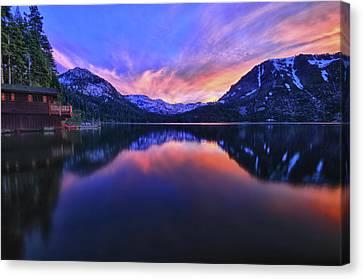 Evening At Fallen Leaf Lake Canvas Print by Jacek Joniec