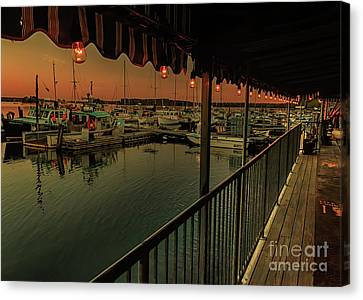 Evening At Harraseeket Lobster Pound Canvas Print