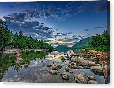 Evening At Jordan Pond Canvas Print by Rick Berk