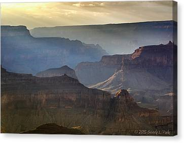 Canvas Print featuring the photograph Evening At Pima Point by Beverly Parks