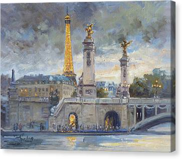 Canvas Print - Evening At Pont Du Alexandre, Paris by Irek Szelag