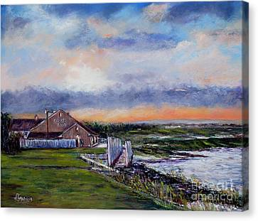 Evening At The Bay Canvas Print by Joyce A Guariglia