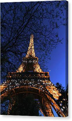 Evening At The Eiffel Tower Canvas Print by Heidi Hermes