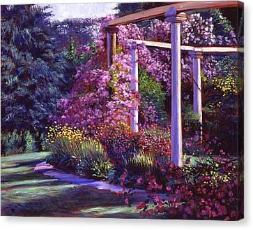 Evening At The Elegant Garden Canvas Print