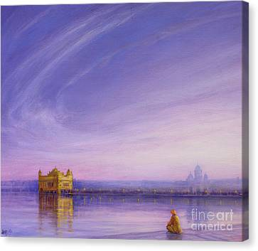 Evening At The Golden Temple, Amritsar Canvas Print