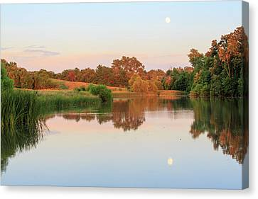 Canvas Print featuring the photograph Evening At The Lake by David Chandler