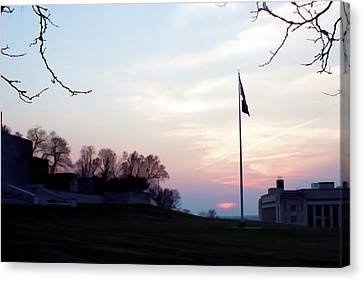 Evening At The Memorial Canvas Print