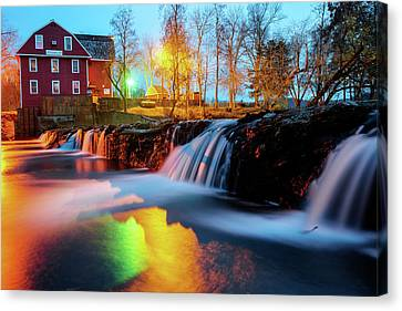 Grist Mill Canvas Print - Evening At The War Eagle Mill - Arkansas by Gregory Ballos