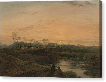 Evening, Bayswater Canvas Print by John Linnell