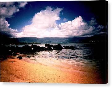 Canvas Print featuring the photograph Evening Beach Hawaiian Style by Judyann Matthews