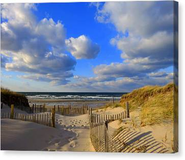 Evening Beach Stroll Canvas Print by Dianne Cowen