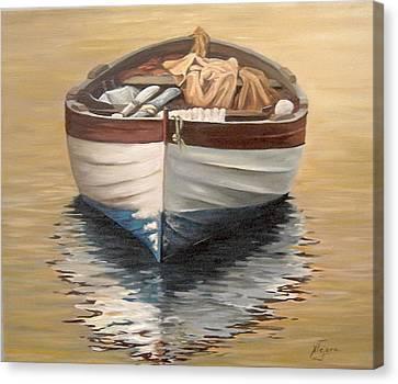 Evening Boat Canvas Print by Natalia Tejera