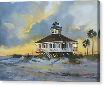 Evening  Boca Grande Light Canvas Print by Dianna  Willman