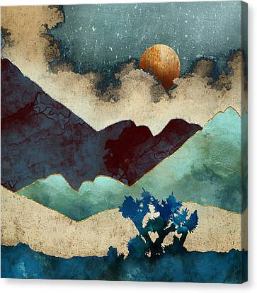 Evening Calm Canvas Print by Spacefrog Designs