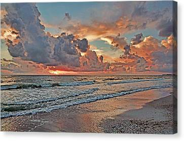 Evening Clouds Canvas Print by HH Photography of Florida