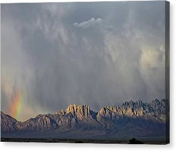 Canvas Print featuring the photograph Evening Drama Over The Organs by Kurt Van Wagner