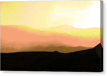 Evening Drive Canvas Print by Leah Grunzke