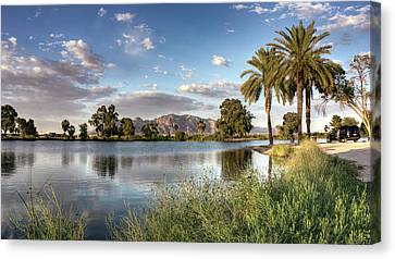 Canvas Print featuring the photograph Evening Fishing by Lynn Geoffroy