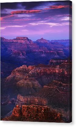 Evening Grand Canyon Drama Canvas Print by Andrew Soundarajan