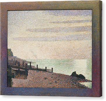 Evening, Honfleur Canvas Print by Georges Seurat
