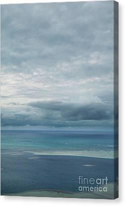 Evening Horizon Kaneohe Bay Canvas Print by Charmian Vistaunet