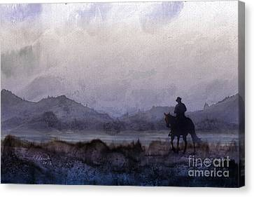 Evening Horseback Ride Canvas Print