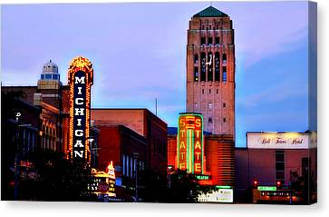 Evening In Ann Arbor Canvas Print by Pat Cook