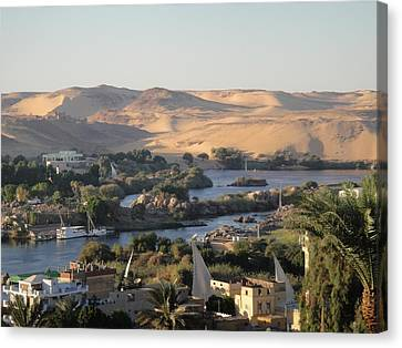 Evening In Aswan Canvas Print