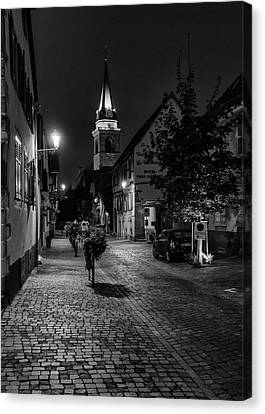 Canvas Print featuring the photograph Evening In Bergheim by Alan Toepfer