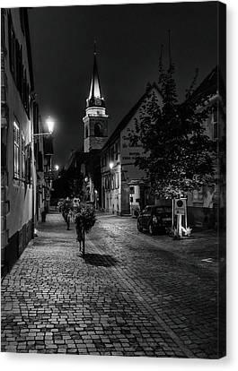 Evening In Bergheim Canvas Print by Alan Toepfer