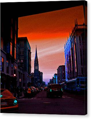 Evening In Boston Canvas Print