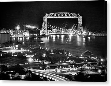 Canvas Print featuring the photograph Evening In Duluth by Bill Pevlor