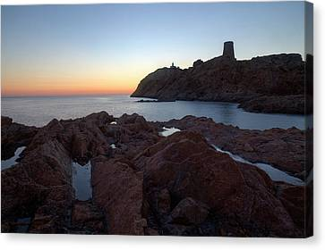 evening in L'Ile Rousse - Corsica Canvas Print
