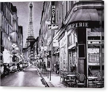 Evening In Paris Canvas Print by Andrey Poletaev