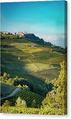 Canvas Print featuring the photograph Evening In Piemonte by Brian Jannsen