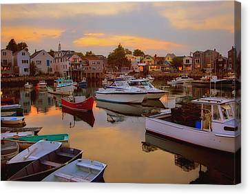 Evening In Rockport Canvas Print