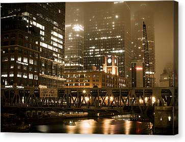 Evening In The Windy City Canvas Print
