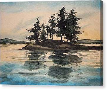 Evening Island Canvas Print