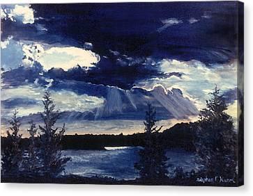Evening Lake Canvas Print by Steve Karol