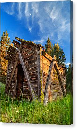 Evening Light On An Old Cabin Canvas Print