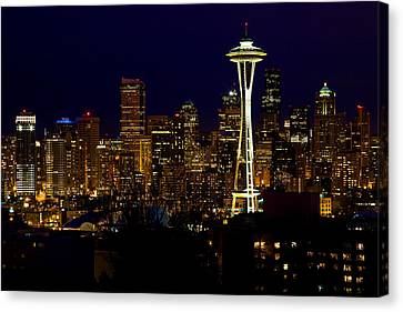 Evening Lights Canvas Print by James Marvin Phelps