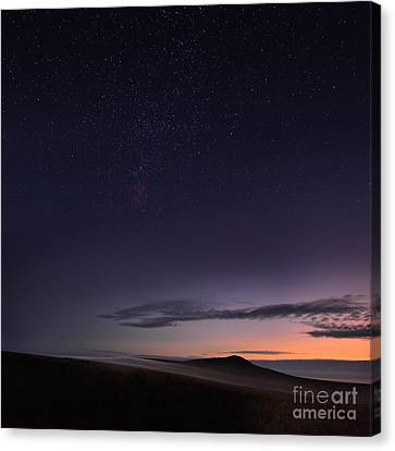 Evening Mist Rising On The Cronk Canvas Print