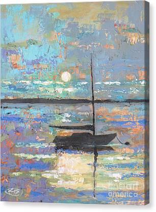 Evening Moon Canvas Print by Kip Decker