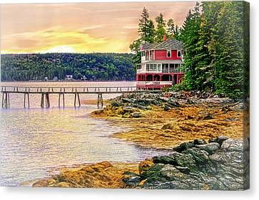 Evening On Blue Hill Peninsula Canvas Print