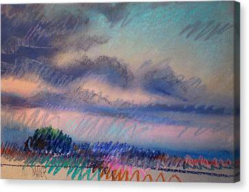 Evening On The Coast Canvas Print by Donald Maier