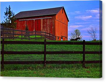 Evening On The Farm Canvas Print by Frozen in Time Fine Art Photography