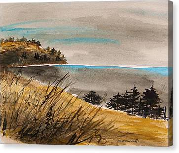 Evening On The Seacoast Canvas Print by John Williams