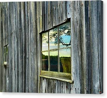 Evening Out At The Barn Canvas Print by Julie Dant