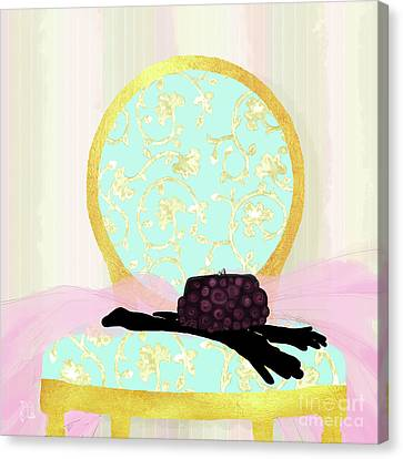 Evening Out In Gold, Fashion, Home Canvas Print by Tina Lavoie