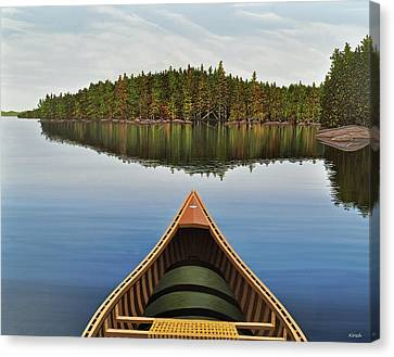 Evening Paddle  Canvas Print by Kenneth M  Kirsch